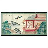 Oriental Furniture Asian Decor and Gifts, 36 by 72-Inch Lover's View Chinese Brush Art Oriental Wall Screen Painting