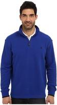 U.S. Polo Assn. Mock Neck 1/4 Zip Long Sleeve Rib Pullover