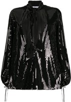 Amen sequin pussy bow blouse