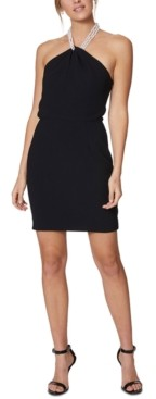 Laundry by Shelli Segal Faux-Pearl-Necklace Dress