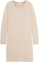 Max Mara Veggia Cable-knit Wool And Cashmere-blend Dress - Beige