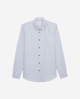 The Kooples Striped blue shirt with press studs
