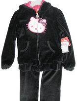 Hello Kitty Little Girls Velour Sequin Applique Sweater 2 Pc Pants Set