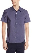 Michael Stars Men's Short Sleeve Slim Fit Button Down Shirt