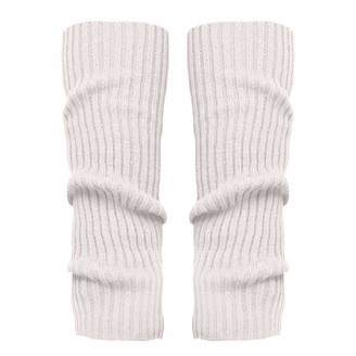 TEELONG Ladies Womens 1Pair Fashion Leg Warmers Chunky Cable Knit Leg Warmers Knitting Footless Leg Warmers Knee High Boot Socks Yellow