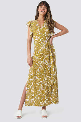 Trendyol Flower Double Breasted Maxi Dress Multicolor