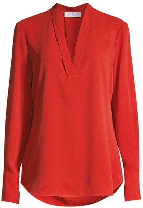 Equipment Charlina Plunging Silk Blouse