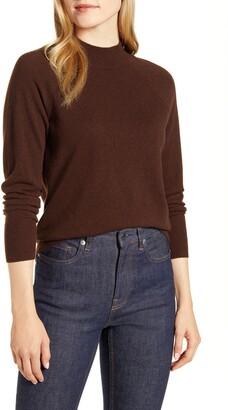 Everlane The Cashmere Raglan Mock Neck Sweater