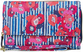 Mundi Big Fat Poppy Stripe RFID Blocking Checkbook Wallet