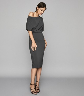 Reiss Madison - Slim Fit Dress in Slate Grey
