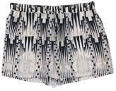 Derek Lam Silk Beige & Black Shorts