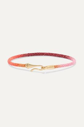 OLE LYNGGAARD COPENHAGEN Life 18-karat Gold And Rope Bracelet - S