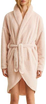 Natural Skin Textured Belted Robe