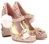 Dolce & Gabbana Embellished Patent Leather Pumps