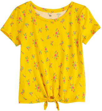 So Girls 4-20 & Plus Size Knot Hem Tee