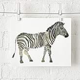 Zebra Safari Unframed Wall Art