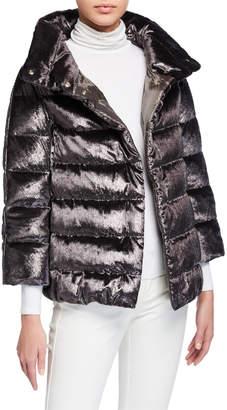 Herno High-Collar Hip-Length Down Coat