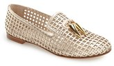 Giuseppe Zanotti Women's Gridded Smoking Slipper