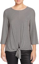 Kim & Cami Striped Tie Front Top - 100% Bloomingdale's Exclusive
