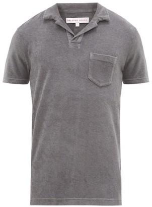 Orlebar Brown Terry Cotton Polo Shirt - Mens - Grey