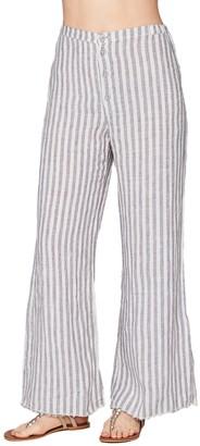 XCVI The Striped Linen Trouser