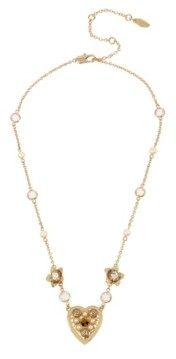 Miriam Haskell New York Heart Pendant Delicate Necklace