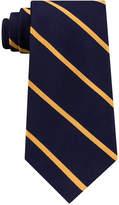Tommy Hilfiger Men's Diagonally-Striped Silk Tie