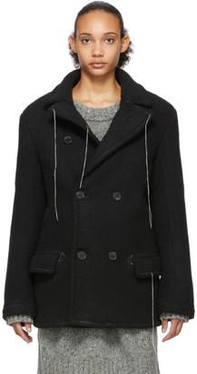Maison Margiela Black Wool Herringbone Jacket
