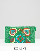 Reclaimed Vintage Embroidered Clutch Bag