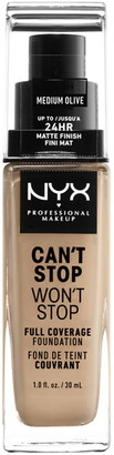 NYX Can't Stop Won't Stop Full Coverage Foundation - Medium Olive