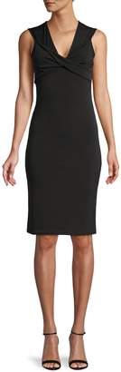 TFNC Zylda Twist-Front Sheath Dress