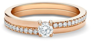 De Beers 18kt rose gold The Promise small round brilliant diamond ring