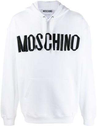 Moschino Zip Logo Hoodie