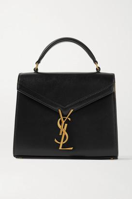 Saint Laurent Cassandra Mini Leather Tote - Black