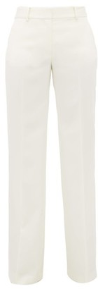 Bella Freud David Wool-twill Wide-leg Trousers - Womens - White