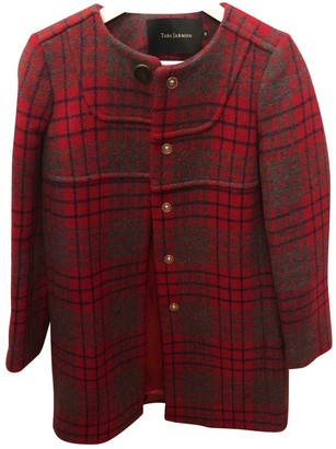 Tara Jarmon Red Wool Coats