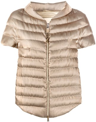 Herno short-sleeve puffer jacket