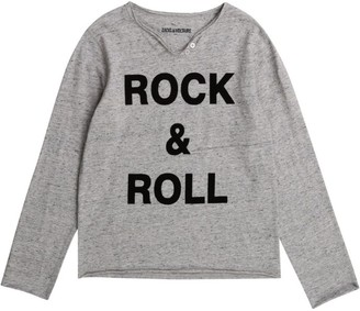 Zadig & Voltaire Rock & Roll Slogan Long-Sleeved T-Shirt (6-16 Years)