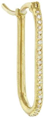 Foundrae Small FOB Diamond Pave Link Base Single Earring - Yellow Gold