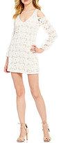 GB Cold Shoulder Lace Sheath Dress