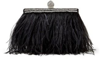 Jimmy Choo Ostrich Feather Celeste Clutch Bag