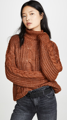 J.o.a. Cable Turtleneck Sweater