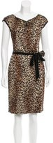 St. John Leopard Pattern Knee-Length Dress w/ Tags