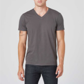 DSTLD Mens V-Neck Tee in Charcoal