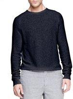 Dolce & Gabbana Steven Textured Raglan Sweater, Navy