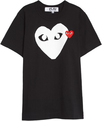 Comme des Garcons PLAY Double Heart Graphic Tee