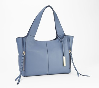 Vince Camuto Large Leather Tote with Zip Detail - Cory
