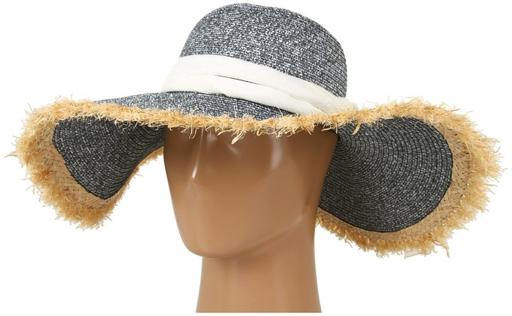 Jessica Simpson Frayed Edged Floppy (White) - Hats