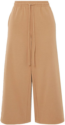 Vince Cropped Cotton-jersey Track Pants