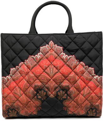 Etro Quilted Print Tote